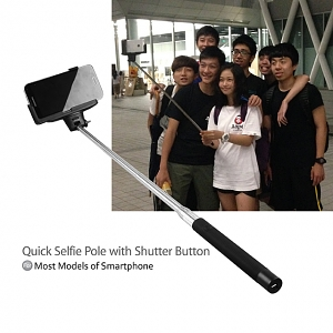 Quick Selfie Pole with Shutter Button