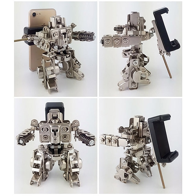 DIY Metal Mini Raytheon Robot Smartphone Holder