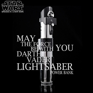 STAR WARS Darth Vader Lightsaber Portable Battery Charger