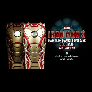MARVEL Iron Man 3 Mark XLII (42) Armor Power Bank 5000mAh (Limited Edition)