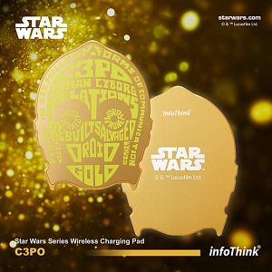 infoThink Star Wars Series Wireless Charging Pad - C3PO