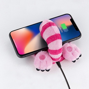 infoThink Alice in Wonderland Series Booty Wireless Charging Pad - Cheshire Cat
