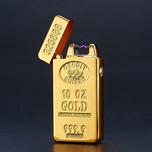 USB Gold Bar Windproof Lighter