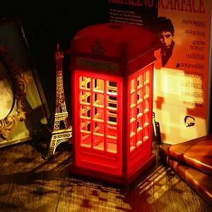 USB Retro Telephone Booth Lamp