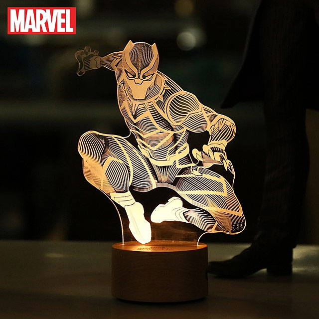 Black Panther Line Lamp