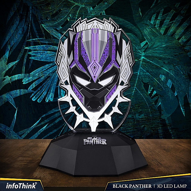 infothink Black Panther 3D Line Lamp