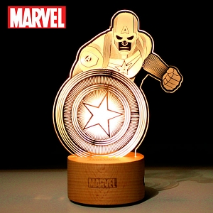 Captain America Line Lamp