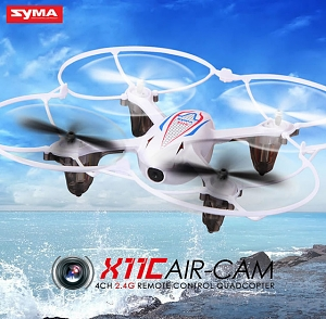 Syma X11C RC Quadcopter with Camera & LED Lights