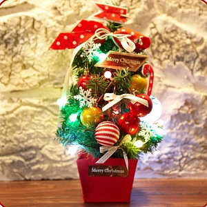 45cm LED Christmas Tree (Red Style)